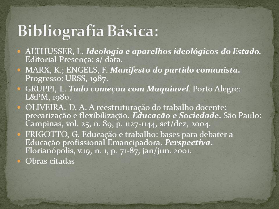 ALTHUSSER, L.Ideologia e aparelhos ideológicos do Estado.