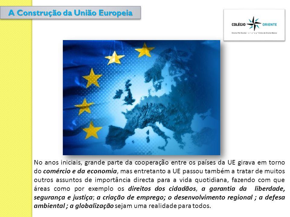No anos iniciais, grande parte da cooperação entre os países da UE girava em torno do comércio e da economia, mas entretanto a UE passou também a trat
