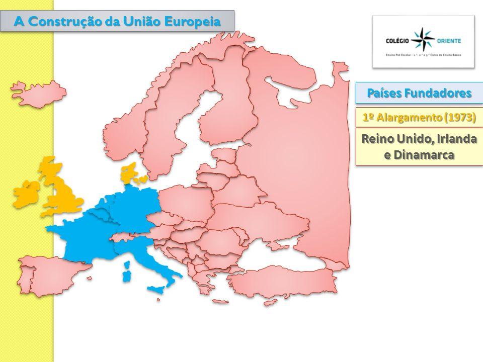 Países Fundadores 1º Alargamento (1973) Reino Unido, Irlanda e Dinamarca