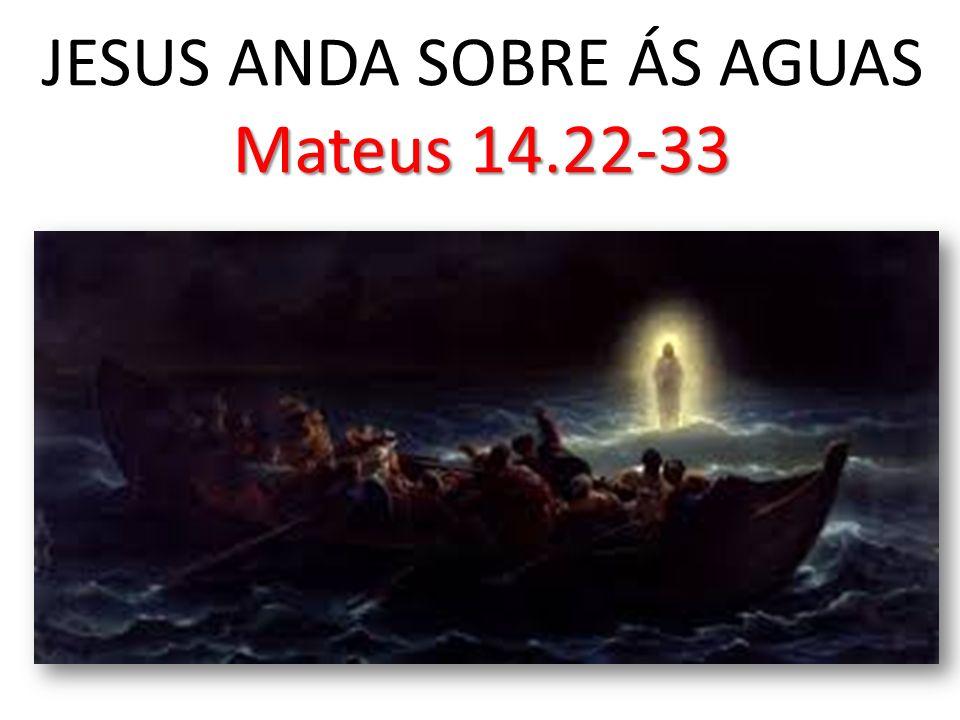 Mateus 14.22-33 JESUS ANDA SOBRE ÁS AGUAS Mateus 14.22-33
