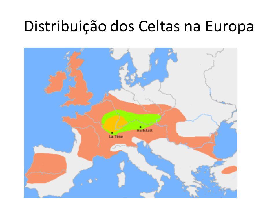Distribuição dos Celtas na Europa