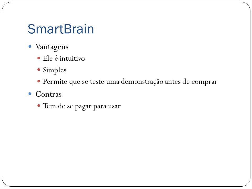 SmartBrain O principal competidor da nossa proposta é o SmartBrain da empresa educamigos. O SmartBrain tem interface simples e amigável. Todos os cont