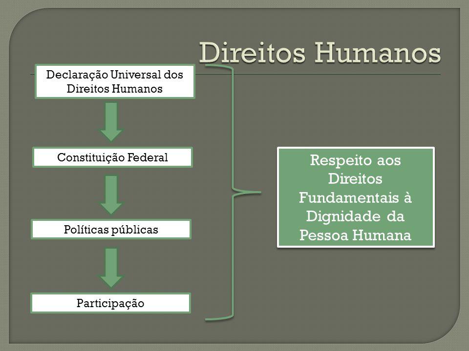 Declaração Universal dos Direitos Humanos Constituição Federal Políticas públicas Respeito aos Direitos Fundamentais à Dignidade da Pessoa Humana Participação