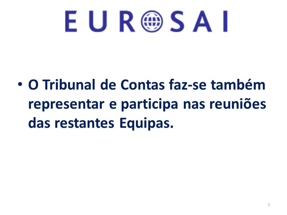 O Tribunal de Contas faz-se também representar e participa nas reuniões das restantes Equipas. 7