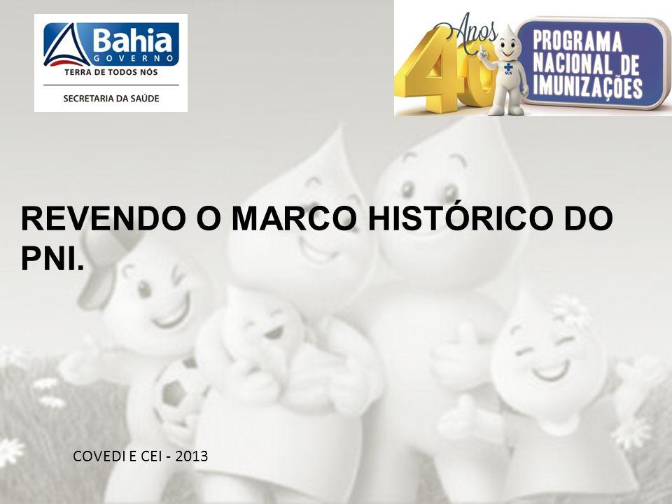 OBRIGADA PELA ATENÇÃO!!! COVEDI E CEI - 2013 REVENDO O MARCO HISTÓRICO DO PNI.