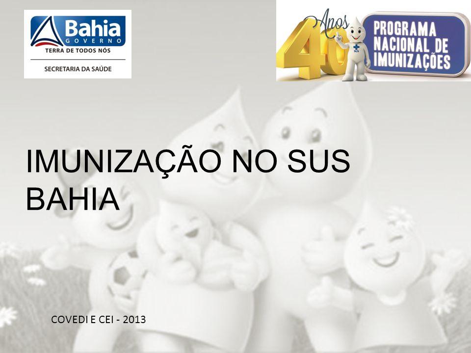 OBRIGADA PELA ATENÇÃO!!! COVEDI E CEI - 2013 IMUNIZAÇÃO NO SUS BAHIA