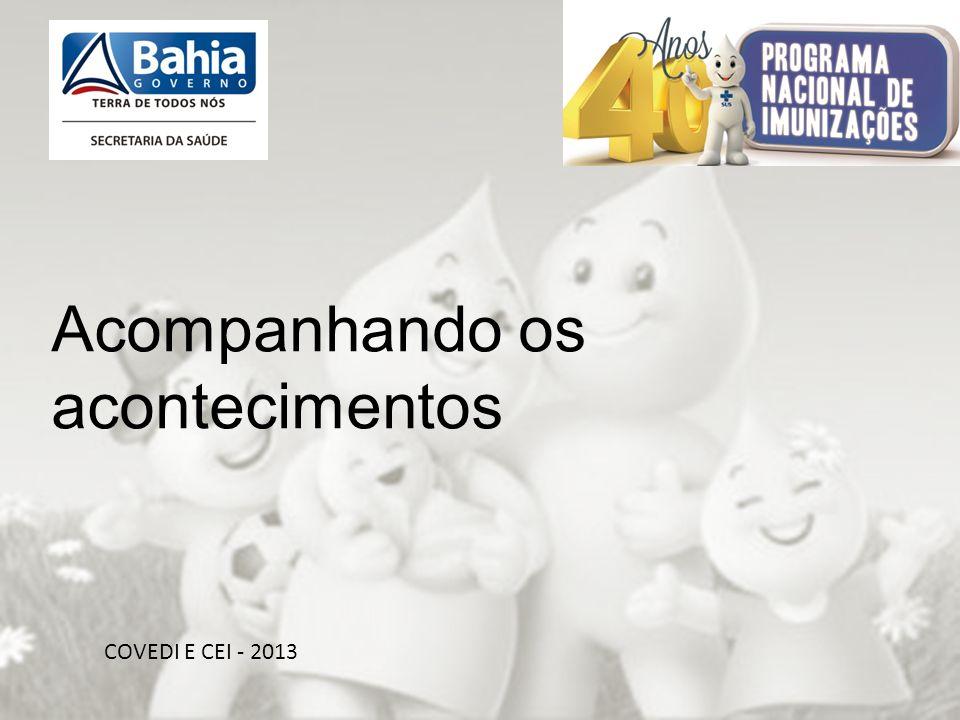 OBRIGADA PELA ATENÇÃO!!! COVEDI E CEI - 2013 Acompanhando os acontecimentos