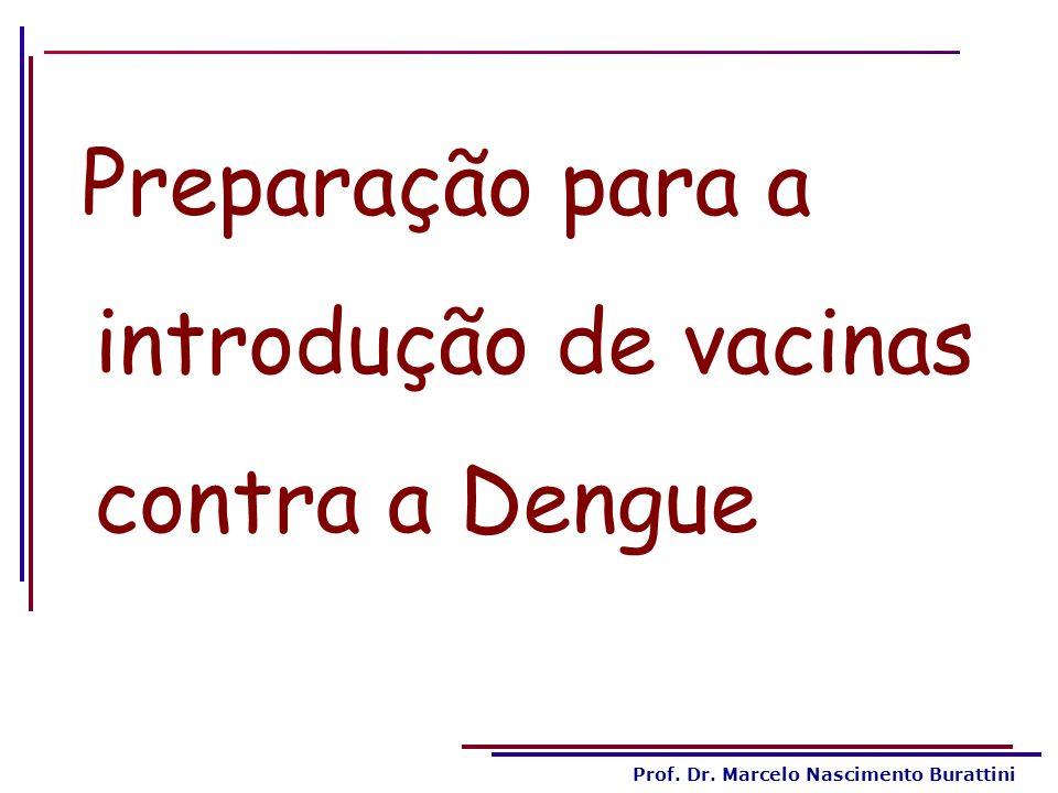 Prof. Dr. Marcelo Nascimento Burattini Preparação para a introdução de vacinas contra a Dengue