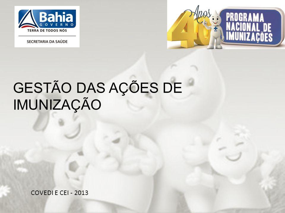 OBRIGADA PELA ATENÇÃO!!! COVEDI E CEI - 2013 GESTÃO DAS AÇÕES DE IMUNIZAÇÃO