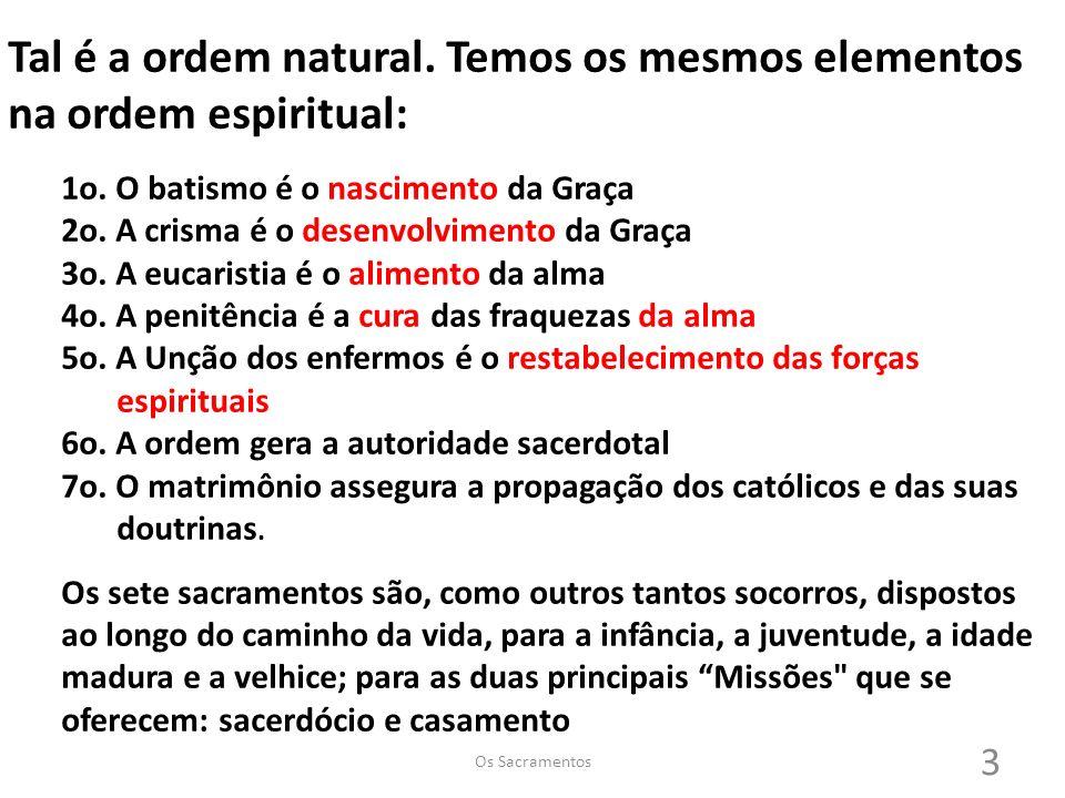 Tal é a ordem natural.Temos os mesmos elementos na ordem espiritual: 1o.
