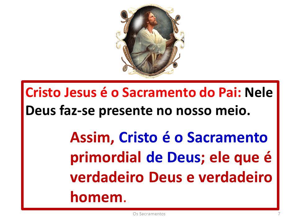 Cristo Jesus é o Sacramento do Pai: Nele Deus faz-se presente no nosso meio.