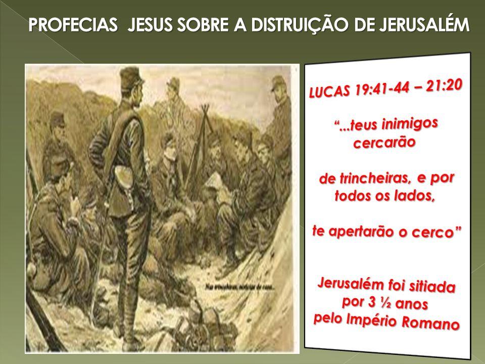 PROFECIAS JESUS SOBRE A DISTRUIÇÃO DE JERUSALÉM