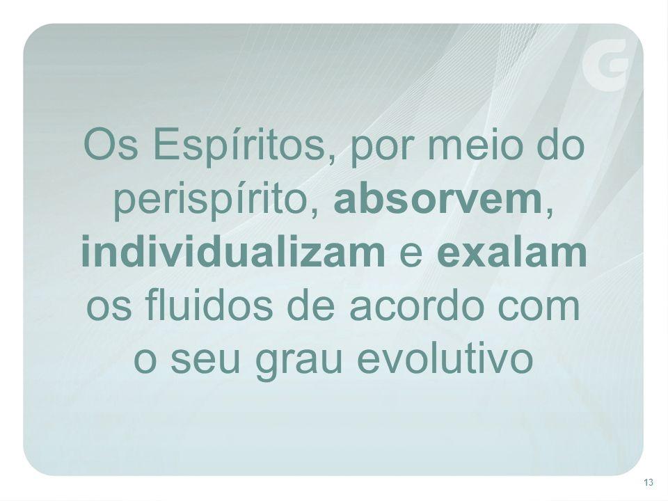 13 Os Espíritos, por meio do perispírito, absorvem, individualizam e exalam os fluidos de acordo com o seu grau evolutivo