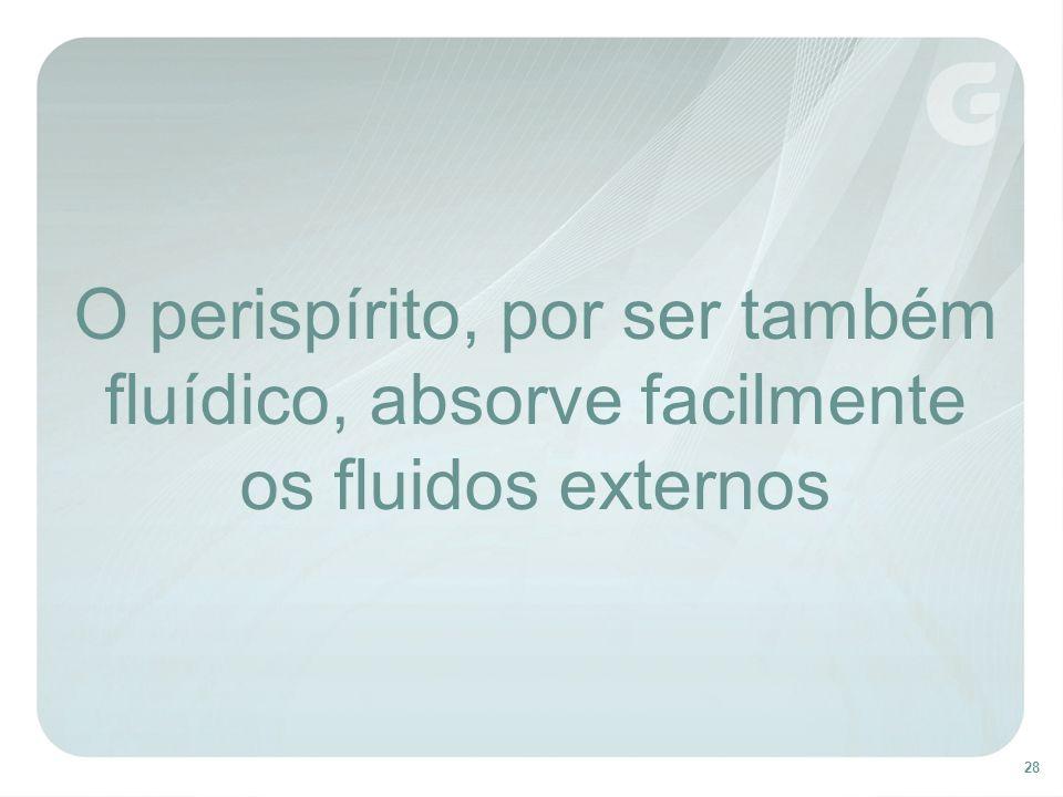 28 O perispírito, por ser também fluídico, absorve facilmente os fluidos externos
