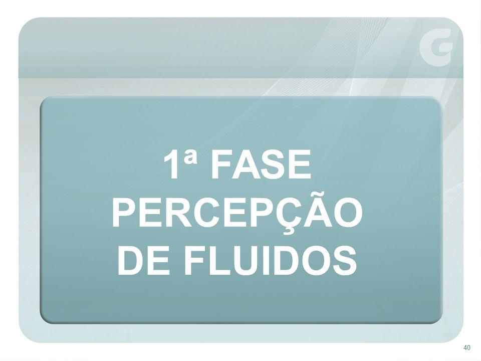 40 1ª FASE PERCEPÇÃO DE FLUIDOS