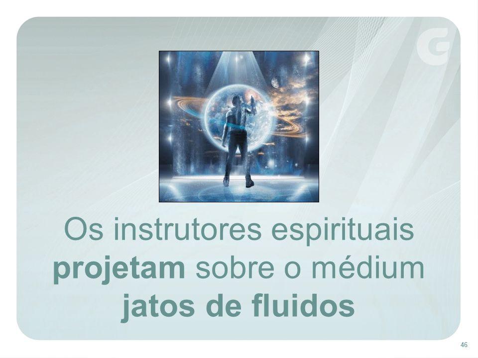 46 Os instrutores espirituais projetam sobre o médium jatos de fluidos