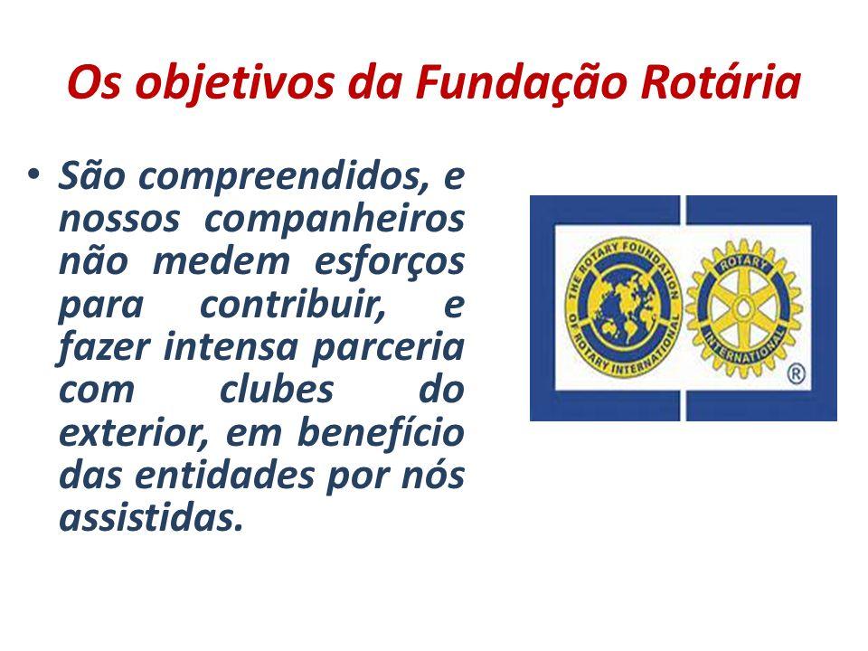 Os objetivos da Fundação Rotária São compreendidos, e nossos companheiros não medem esforços para contribuir, e fazer intensa parceria com clubes do e