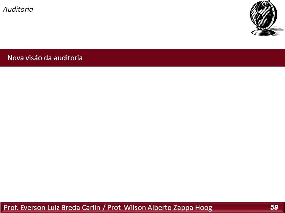 Prof. Everson Luiz Breda Carlin / Prof. Wilson Alberto Zappa Hoog 59 Nova visão da auditoria