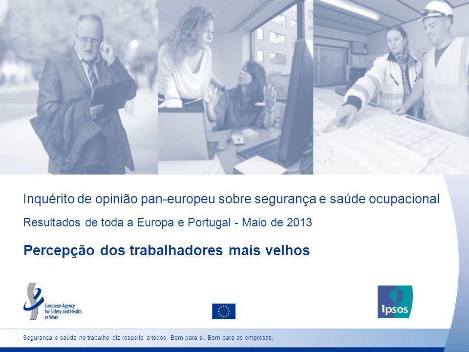 Inquérito de opinião pan-europeu sobre segurança e saúde ocupacional Resultados de toda a Europa e Portugal - Maio de 2013 Percepção dos trabalhadores