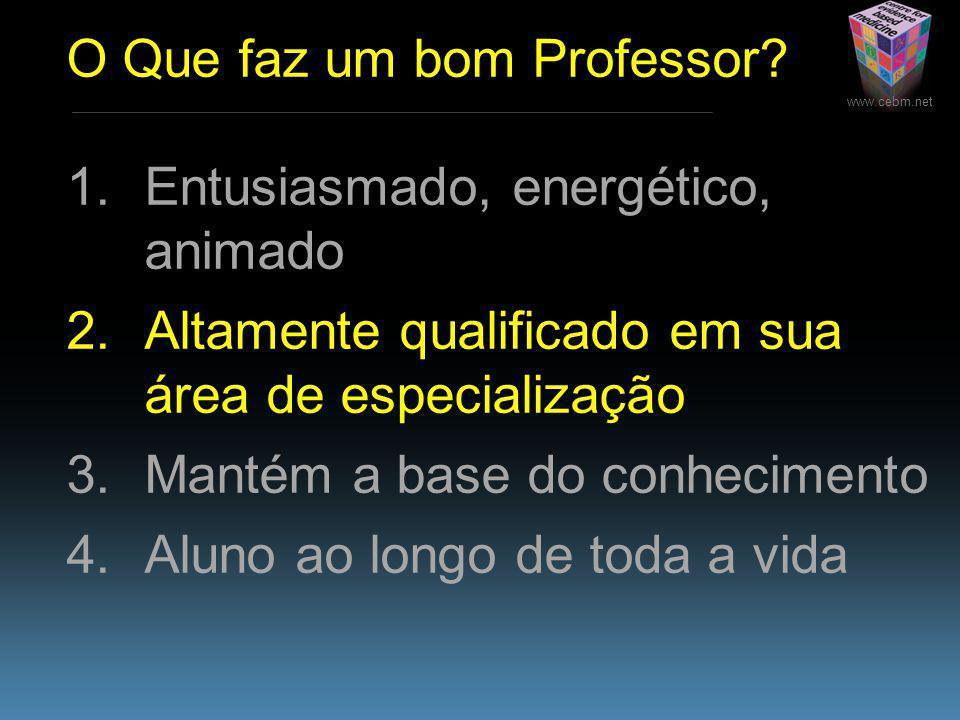 www.cebm.net O Que faz um bom Professor.