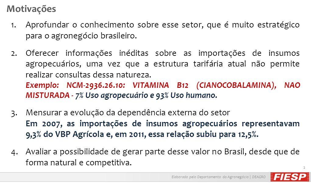 Elaborado pelo Departamento do Agronegócio | DEAGRO 3 Fertilizantes | Dependência Externa Fonte: Outlook Brasil 2022 | FIESP e ICONE N Importado P K NPK Importado A expansão da capacidade de produção de fertilizantes, possibilitará ao Brasil reduzir a sua dependência em relação ao mercado internacional desses produtos.