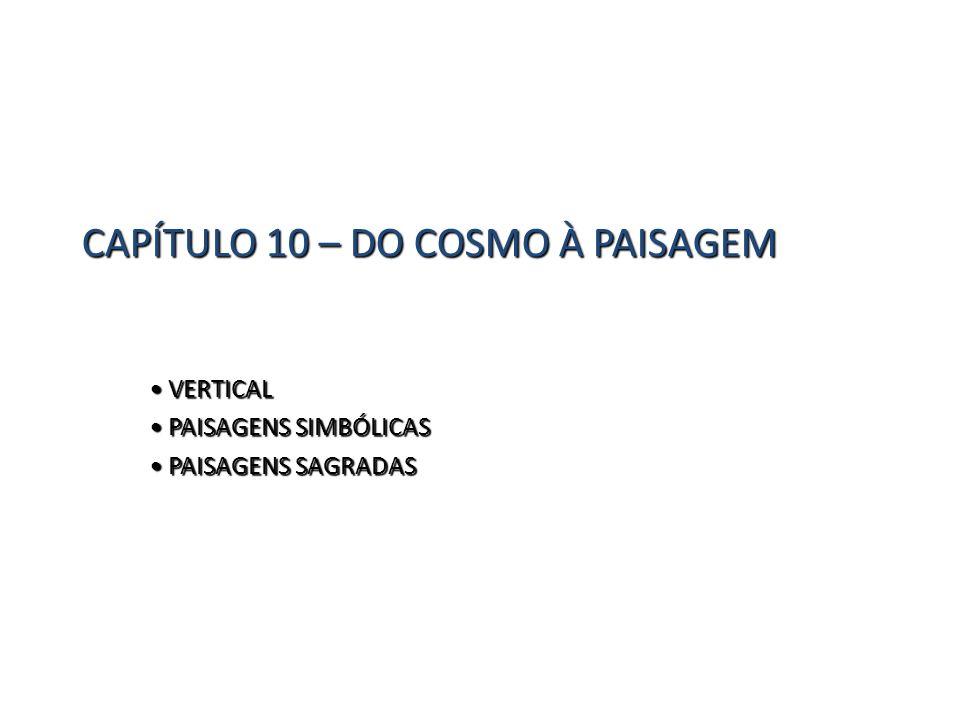 CAPÍTULO 10 – DO COSMO À PAISAGEM VERTICAL VERTICAL PAISAGENS SIMBÓLICAS PAISAGENS SIMBÓLICAS PAISAGENS SAGRADAS PAISAGENS SAGRADAS
