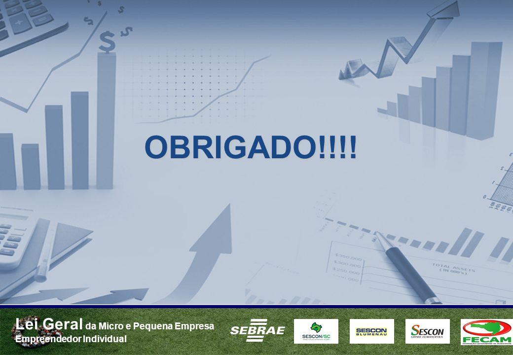 Lei Geral da Micro e Pequena Empresa Empreendedor Individual OBRIGADO!!!!