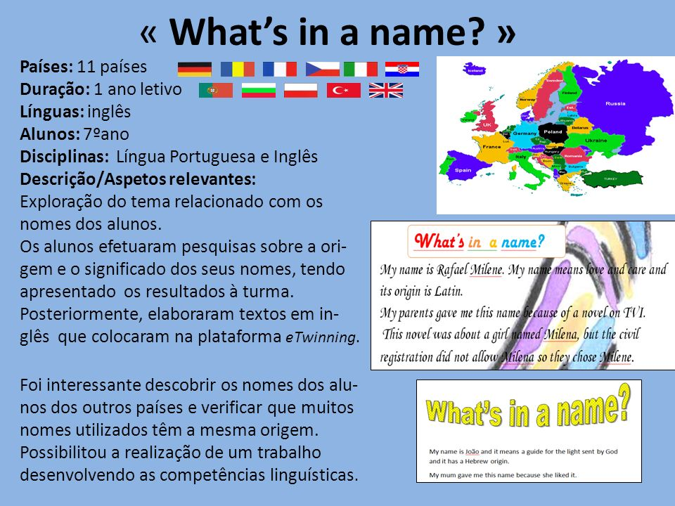 « Whats in a name.