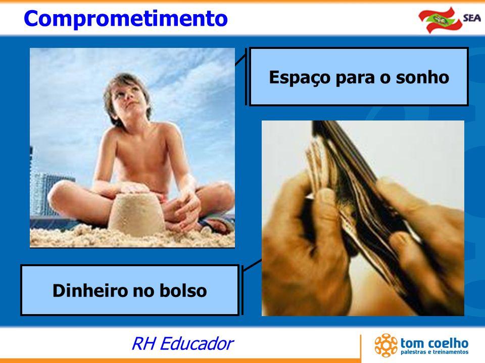 RH Educador Espaço para o sonho Dinheiro no bolso Comprometimento