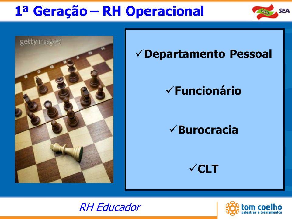 RH Educador 1ª Geração – RH Operacional Departamento Pessoal Funcionário Burocracia CLT