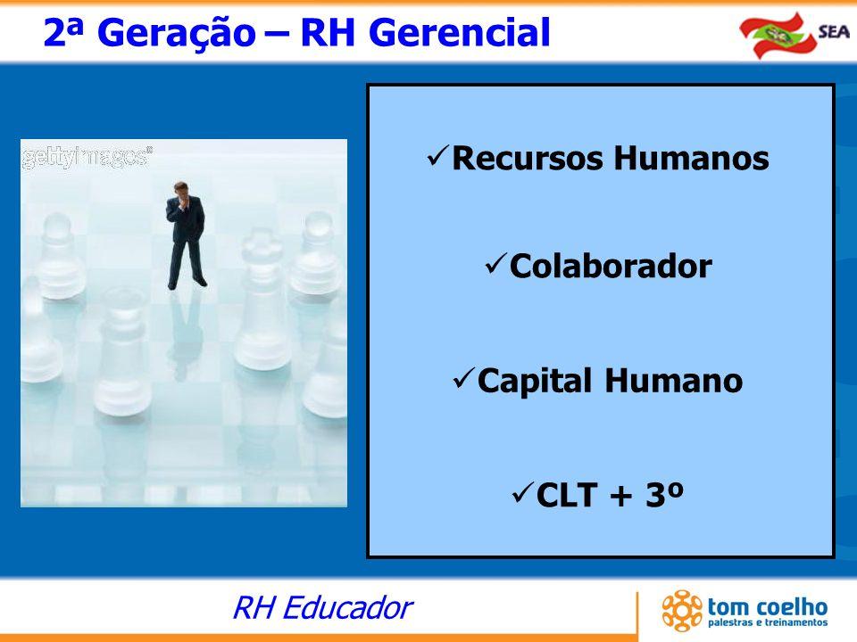 RH Educador 2ª Geração – RH Gerencial Recursos Humanos Colaborador Capital Humano CLT + 3º