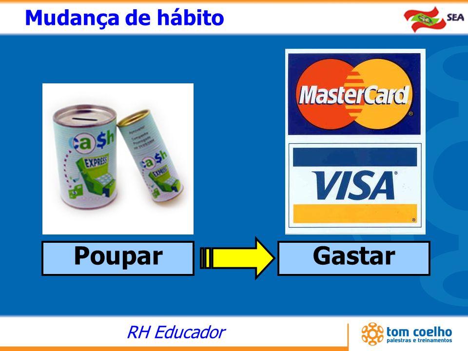 RH Educador Poupar Mudança de hábito Gastar