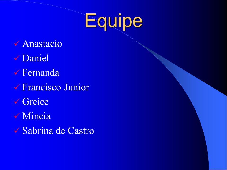 Equipe Anastacio Daniel Fernanda Francisco Junior Greice Mineia Sabrina de Castro