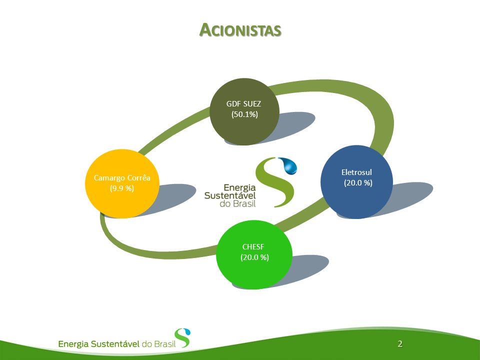 L OCALIZAÇÃO E C ARACTERÍSTICAS B ÁSICAS 3 Localizado na Ilha do Padre, a 120 km de Porto Velho, no Estado de Rondônia, no Norte do Brasil 3.750 MW de capacidade instalada - suficiente para abastecer mais de 10,5 milhões de pessoas Obra do PAC Empregos: 23 mil diretos 40 mil indiretos