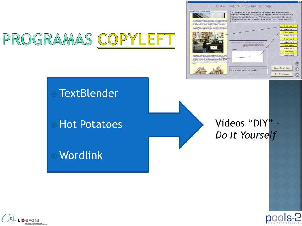 TextBlender Hot Potatoes Wordlink Vídeos DIY – Do It Yourself