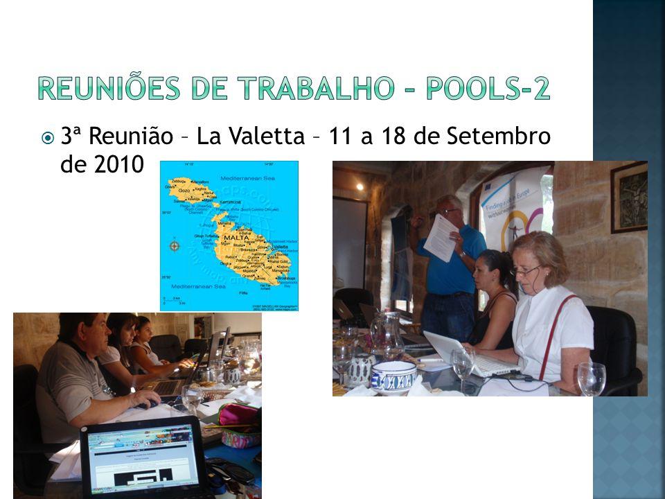 3ª Reunião – La Valetta – 11 a 18 de Setembro de 2010