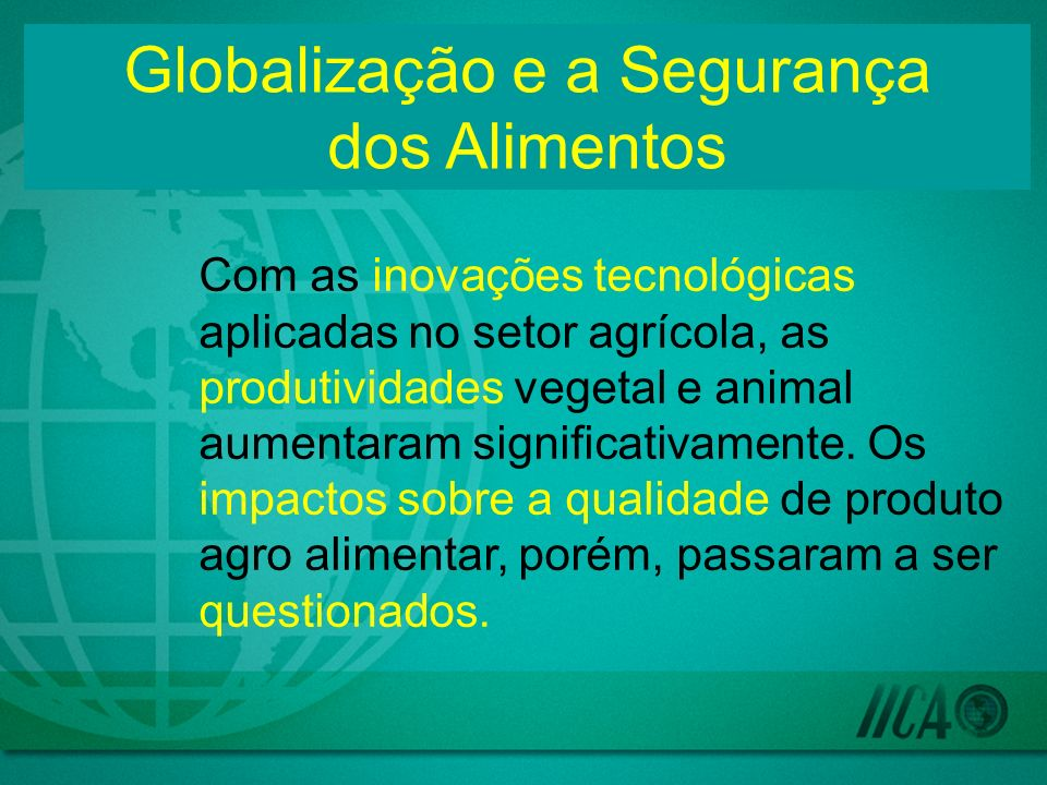 Com as inovações tecnológicas aplicadas no setor agrícola, as produtividades vegetal e animal aumentaram significativamente.