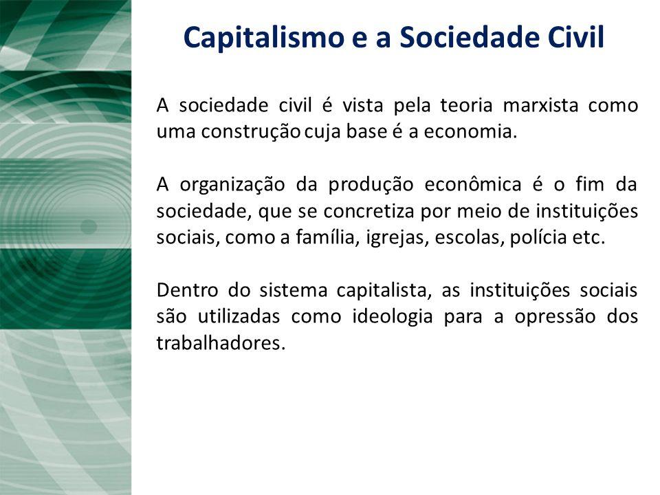 O capitalismo, segundo o pensamento marxista, pode ser apontado como responsável pelo aumento das desigualdades sociais, à medida em que concentra os
