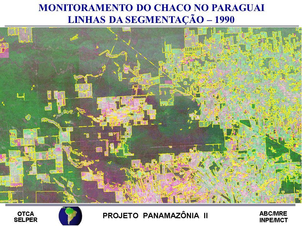 MONITORAMENTO DO CHACO NO PARAGUAI LINHAS DA SEGMENTAÇÃO – 1990