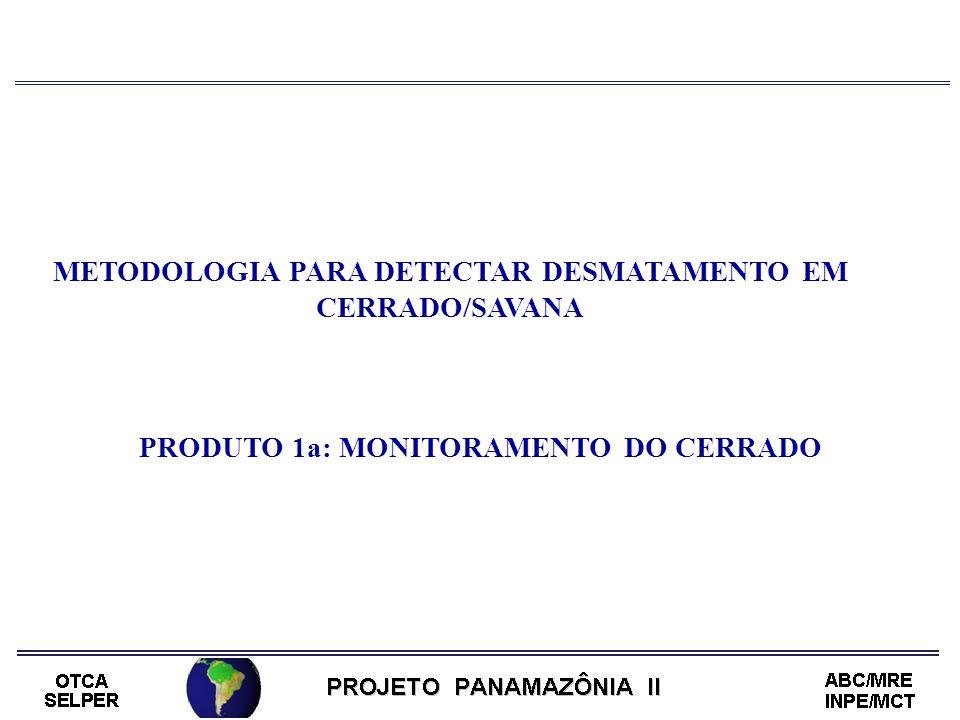METODOLOGIA PARA DETECTAR DESMATAMENTO EM CERRADO/SAVANA PRODUTO 1a: MONITORAMENTO DO CERRADO