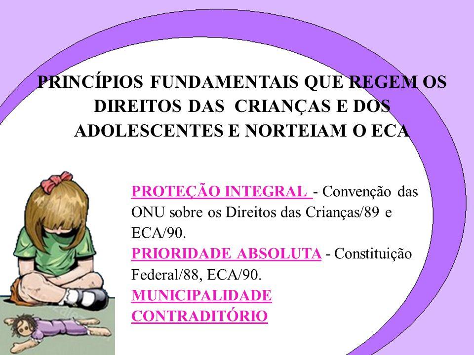 PRINCÍPIOS FUNDAMENTAIS QUE REGEM OS DIREITOS DAS CRIANÇAS E DOS ADOLESCENTES E NORTEIAM O ECA PROTEÇÃO INTEGRAL - Convenção das ONU sobre os Direitos