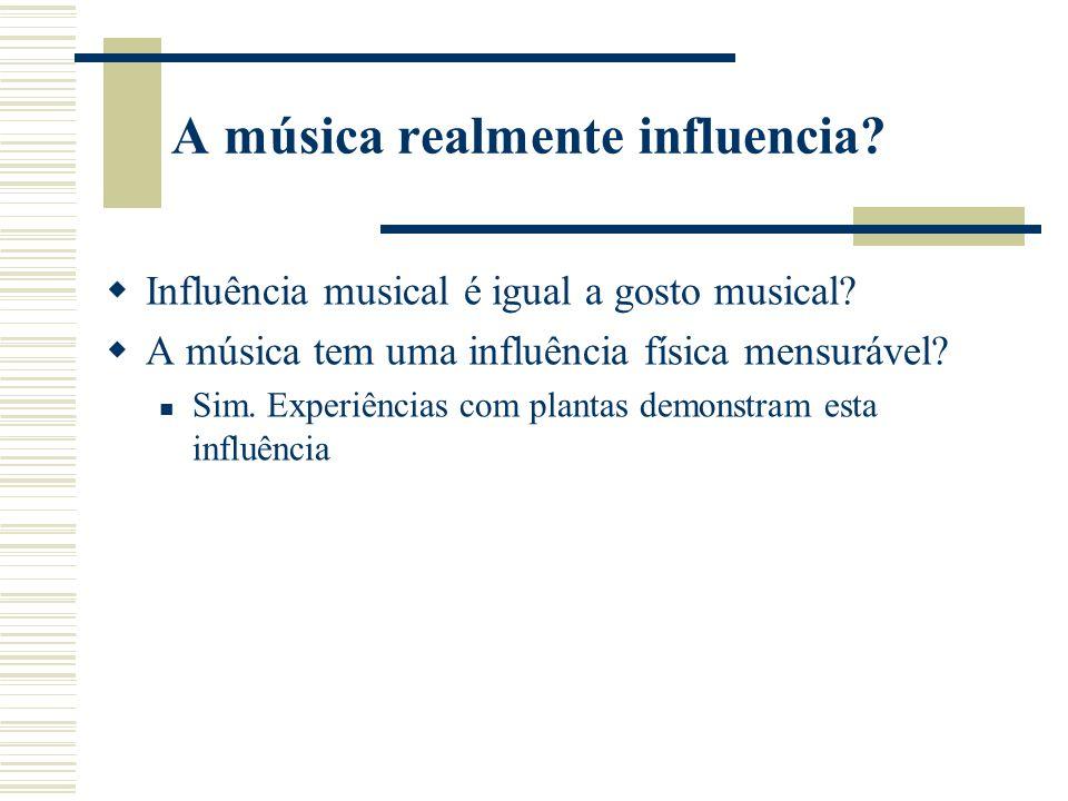A música realmente influencia.Influência musical é igual a gosto musical.