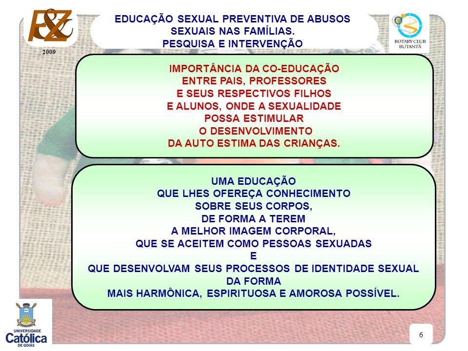 2009 6 EDUCAÇÃO SEXUAL PREVENTIVA DE ABUSOS SEXUAIS NAS FAMÍLIAS. PESQUISA E INTERVENÇÃO IMPORTÂNCIA DA CO-EDUCAÇÃO ENTRE PAIS, PROFESSORES E SEUS RES