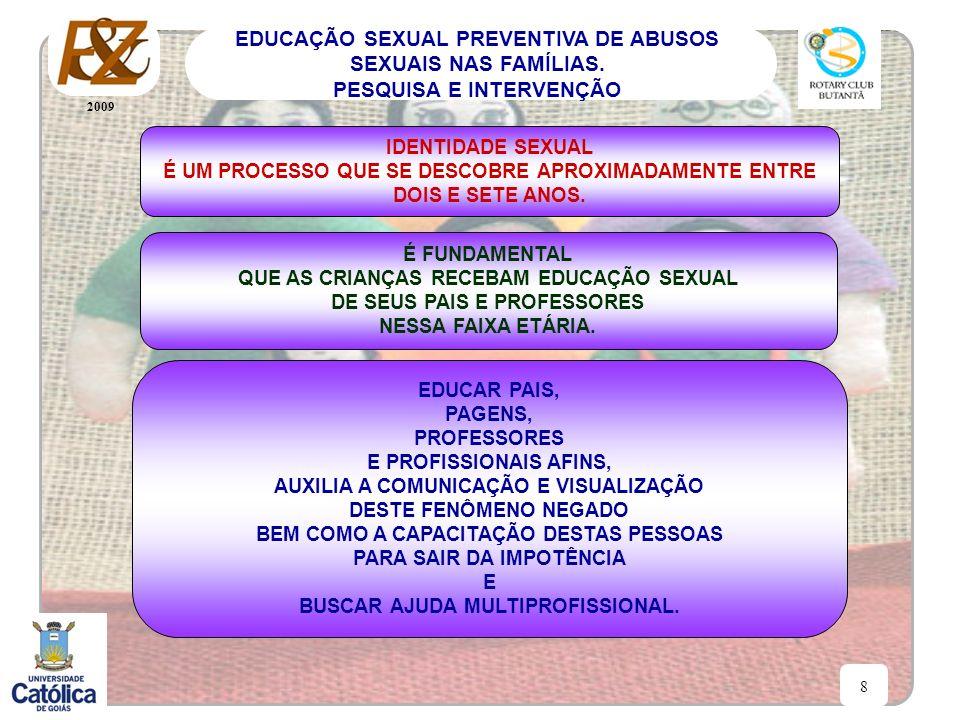 2009 8 EDUCAÇÃO SEXUAL PREVENTIVA DE ABUSOS SEXUAIS NAS FAMÍLIAS. PESQUISA E INTERVENÇÃO IDENTIDADE SEXUAL É UM PROCESSO QUE SE DESCOBRE APROXIMADAMEN