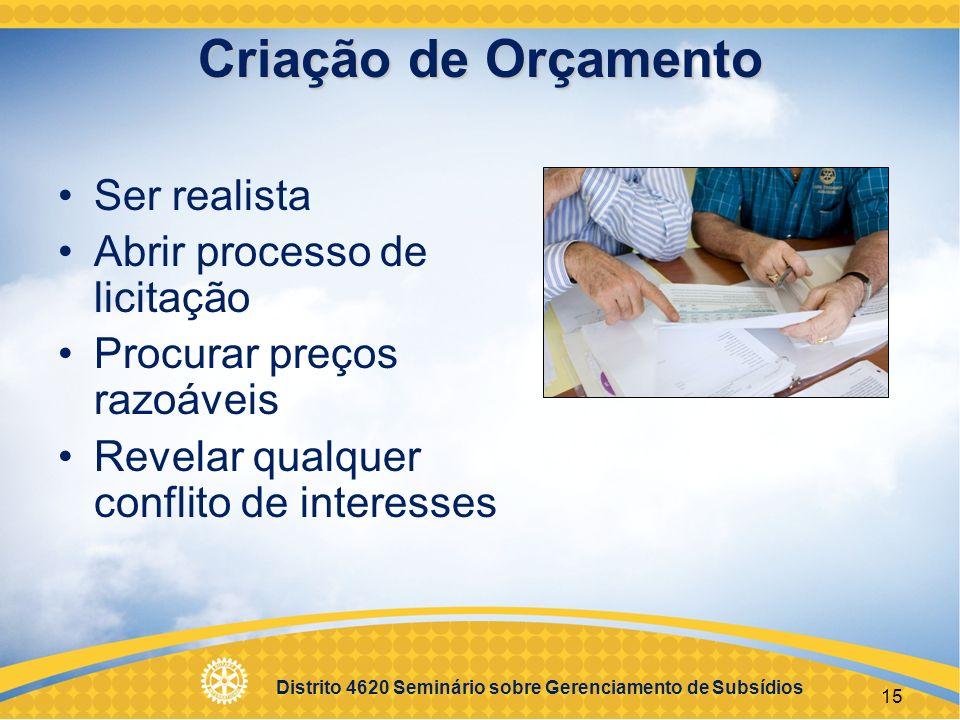 Distrito 4620 Seminário sobre Gerenciamento de Subsídios 16 Metas Mensuráveis Sustentáveis Qualitativas (descritivas) Quantitativas (numéricas)