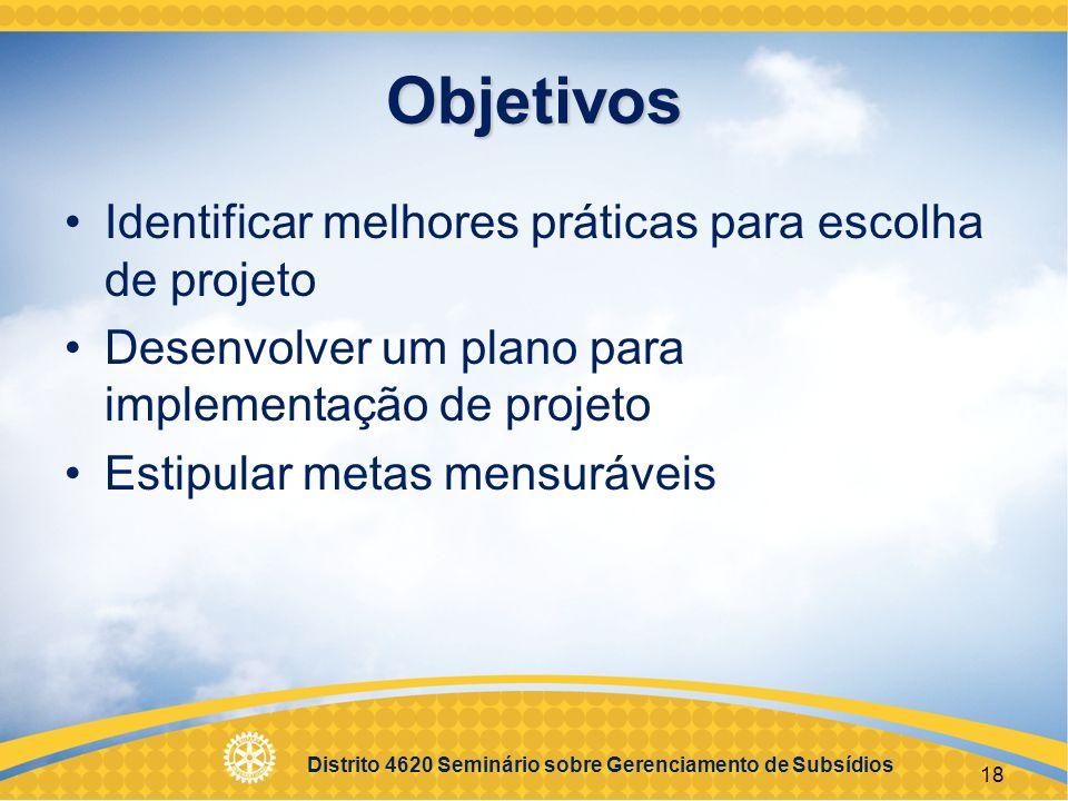Distrito 4620 Seminário sobre Gerenciamento de Subsídios 19 Sessão 2 Solicitação de subsídios e implementação de projetos EGD 2004-05 – Vanderlei da Silva Porcel