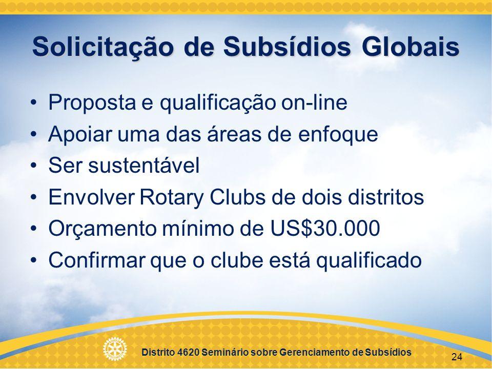 Distrito 4620 Seminário sobre Gerenciamento de Subsídios A missão da Fundação Rotária do R.