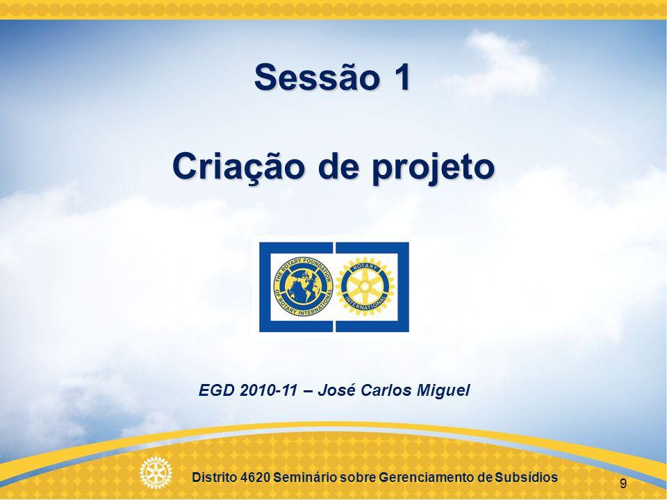 Distrito 4620 Seminário sobre Gerenciamento de Subsídios 10 Objetivos Objetivos Identificar melhores práticas para escolha de projeto Desenvolver um plano para implementação de projeto Estipular metas mensuráveis