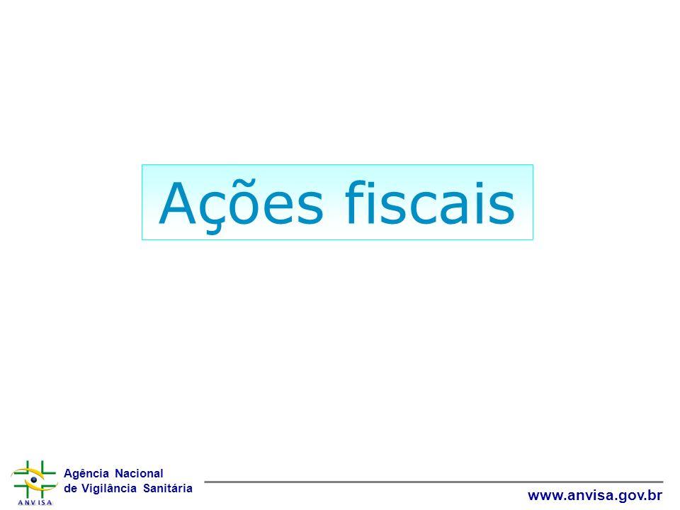 Agência Nacional de Vigilância Sanitária www.anvisa.gov.br Ações fiscais