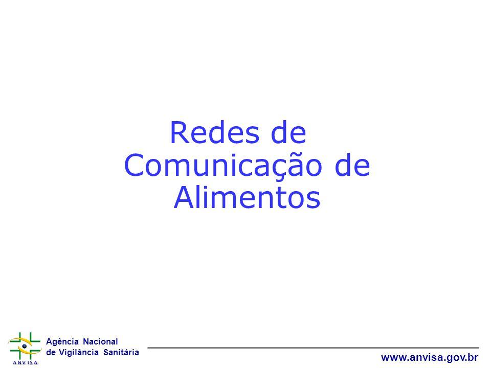Agência Nacional de Vigilância Sanitária www.anvisa.gov.br Redes de Comunicação de Alimentos